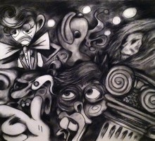 Midnight – charcoal on paper – 24×18 – 2014