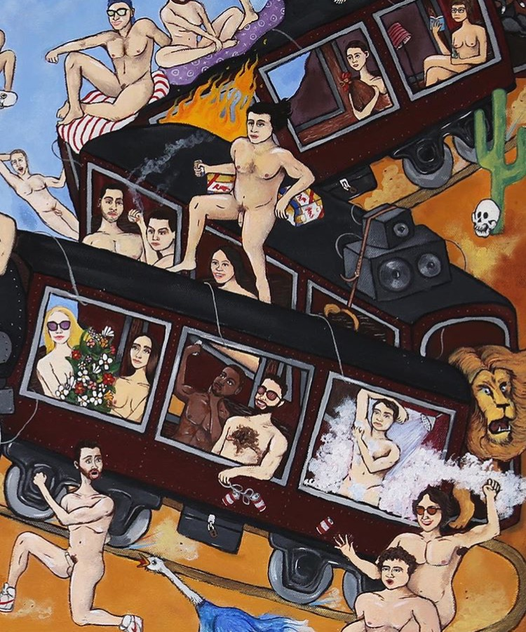 Detail of Crosstown: The Farside Town album cover